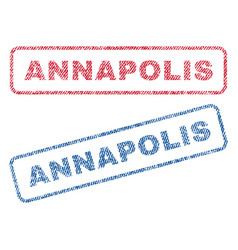 Annapolis textile stamps vector