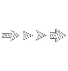 arrows pencil hatching style vector image
