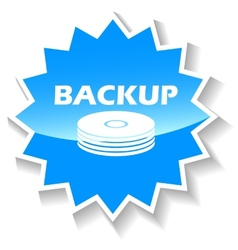 Backup blue icon vector