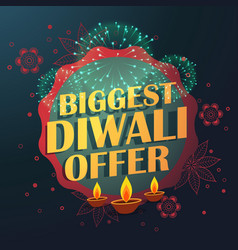 Biggest diwali sale offer with beautiful vector