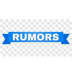 blue tape with rumors title vector image