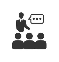 Business discussion icon vector