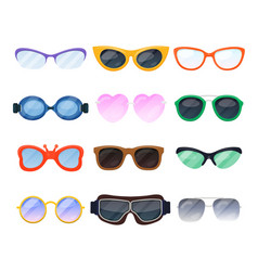 cartoon eyeglasses spectacles eyewear device and vector image
