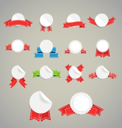 Collection of paper style labels vector