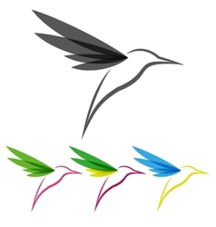 Colored stylized colibri vector image