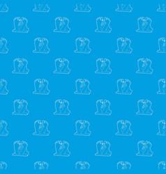dead body pattern seamless blue vector image