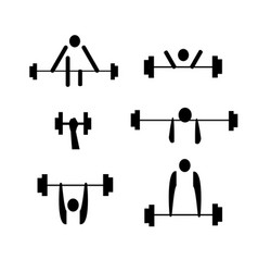 fitness collection vector image