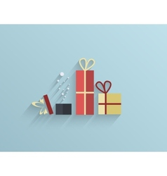 Flat gifts background Eps10 vector