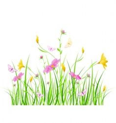 Floral background with pink flowers vector