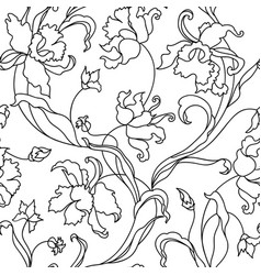 floral tile pattern flower background garden vector image