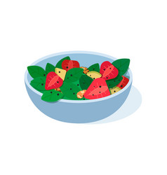 Fruits salad flat concept of vector