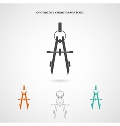 Geometry Compasses Icon vector image