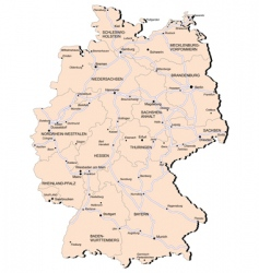 Germany railway map vector image