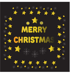 gold christmas balls and stars vector image