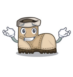 Grinning working boot in shape cartoon beautiful vector