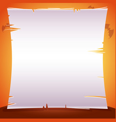 Halloween poster with sheet of paper parchment vector
