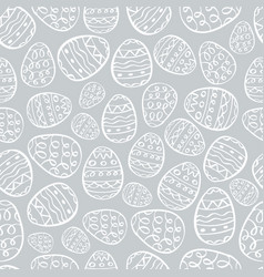 happy easter background eggs cartoon doodle vector image