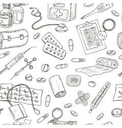 Health care and medicine seamless pattern vector image