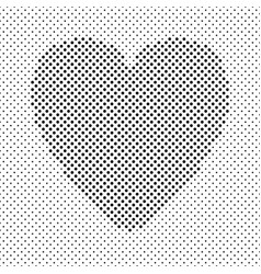 heart shaped background design from black dots - vector image