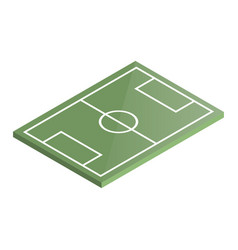 icon playground soccer in isometric vector image