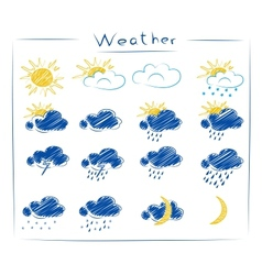 icons - weather set vector image