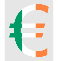 Irish Euro vector image