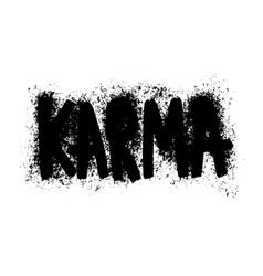Karma sticker for social media post hand drawn vector