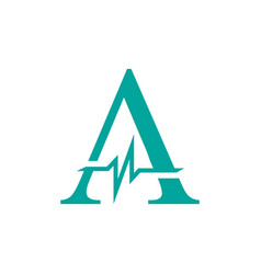 letter a initial logo a-initial medical logo with vector image