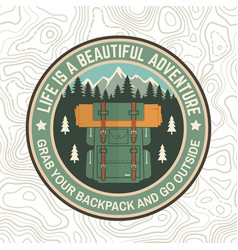 Life is a beautiful adventure patch vector