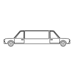 Limousine icon outline style vector image vector image