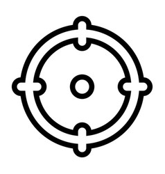 line target icon vector image