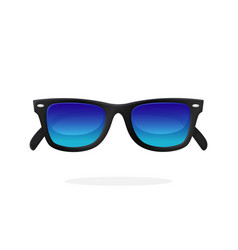 modern sunglasses with blue mirror lenses vector image