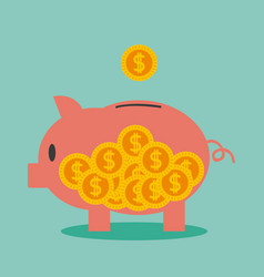 money savings on piggy vector image