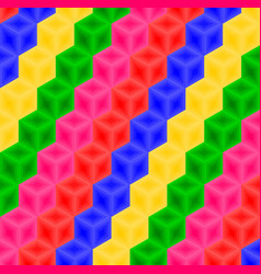 Multi-color cubes pattern background vector