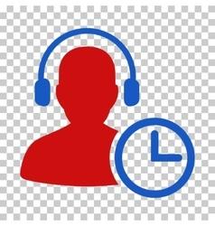 Operator Time Icon vector