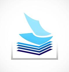 Paper document refill design element vector