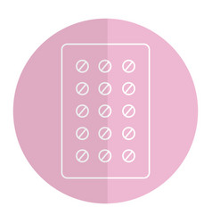 Pills planning medications icon vector