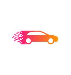 pixel automotive logo icon design vector image