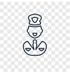 police concept linear icon isolated on vector image