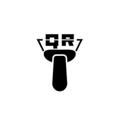 qr code scanner flat icon vector image