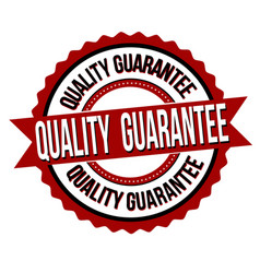 quality guarantee label or sticker vector image