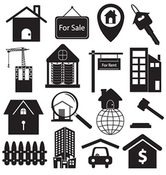 Real Estate Symbols Set vector image