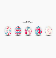realistic 3d easter egg design element collection vector image