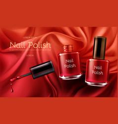red nail polish realistic promo banner vector image