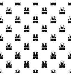 Reflective vest pattern simple style vector