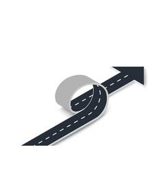 Road loop with arrow isometric view winding 3d vector