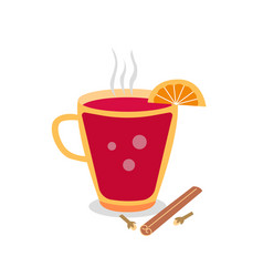 Scandinavian mulled wine gleg vector