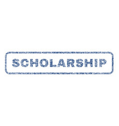 Scholarship textile stamp vector