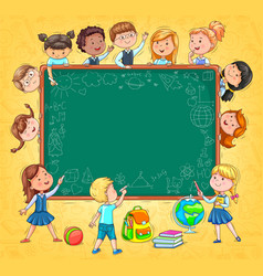 school board for your text funny kids and vector image