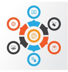 Seo icons set collection keyword marketing vector